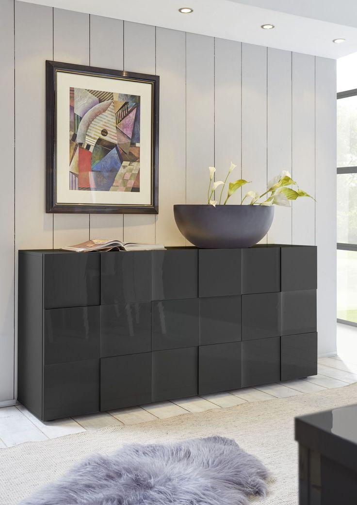 Sideboard Anthrazit Hochglanz Mit 3d-Optik Woody 12-01213 Holz Modern Jetzt bestellen unter: https://moebel.ladendirekt.de/wohnzimmer/schraenke/sideboards/?uid=a943a9e8-a6bd-55bb-8d2d-71b74da406d6&utm_source=pinterest&utm_medium=pin&utm_campaign=boards #schraenke #wohnzimmer #sideboards