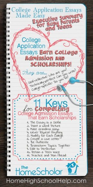 College application essays earn college admission and scholarships. Read this executive summary for busy parents and teens to learn the 11 keys for compelling essays.