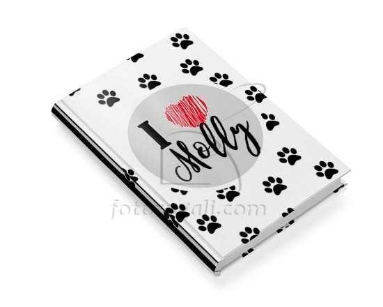 Diario per animali con copertina con impronte