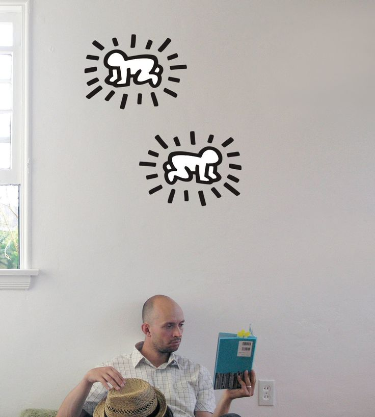 Keith Haring Radiant Baby Wall Decal Part 95