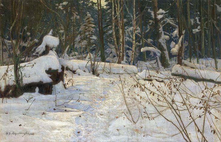 Michał Gorstkin Wywiórski | W KNIEI, PRZED 1900 | olej, płótno | 90 x 137.5 cm