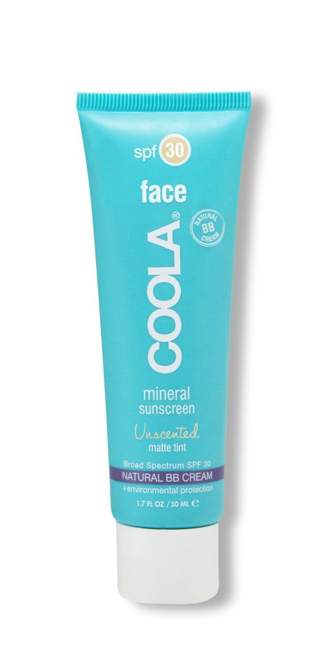 Mattifying Coola Mineral Face Sunscreen SPF 30, one of the 22 best green beauty products this year. 30 hair, makeup, and skin pros weigh in and explain why.