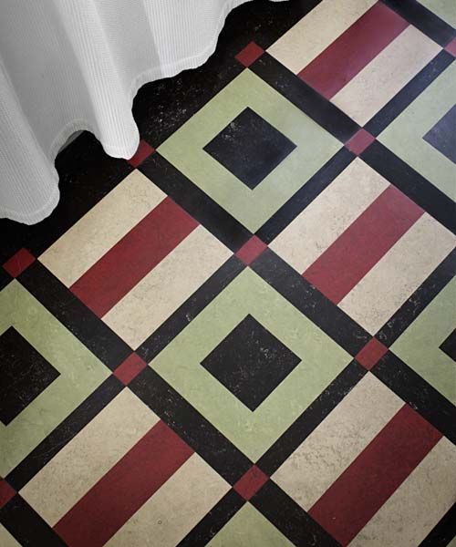 accessibly priced linoleum rugs similar to those made by american linoleum floor craftsperson laurie crogan