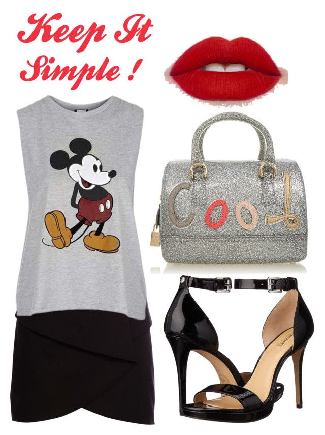 * Keep It Simple * by superficiales on Polyvore featuring moda, Topshop, Pull&Bear, MICHAEL Michael Kors, Furla, michaelkors, Pullandbear, mickey and candy