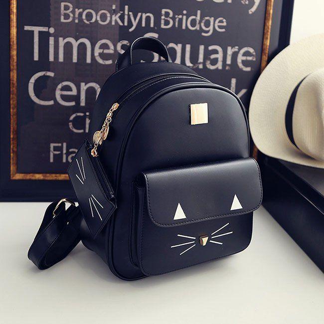 Cute Cartoon Backpack Casual Leather Cute Rucksack Shoulder School Bag Bags