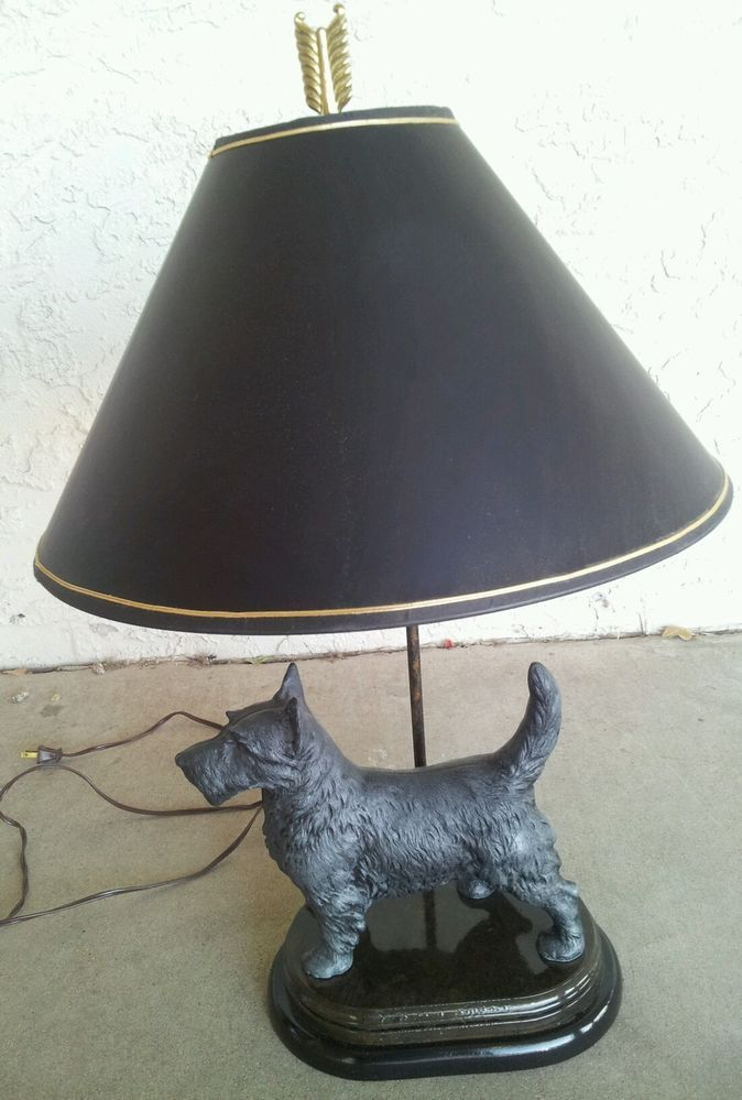 Williamsburg Virginia Metalcrafters Scottie Dog Lamp Rare