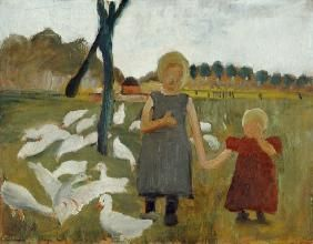 Paula Modersohn-Becker - Kinder mit Gänsen