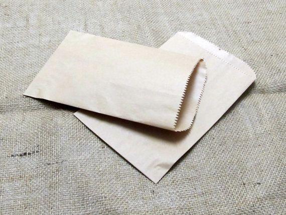 25 - 5 x 7,5 Kraft merce sacchetti, sacchetti di carta marrone, Bomboniere borse