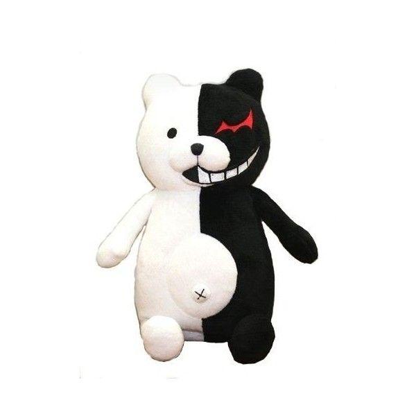 "Monokuma Plush ""Dangan refuted"" speak (japan import) ($7.25) ❤ liked on Polyvore featuring plushies"