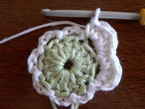 tutorial de flor al crochet