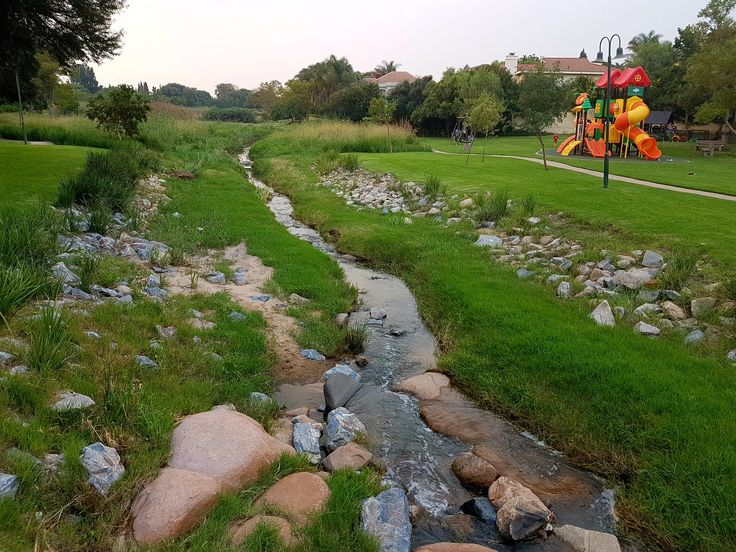 Rehabilitated Fourways stream by NLA and Chris Brookes Ads.