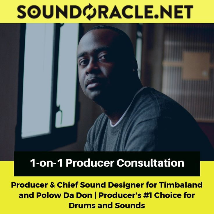 1-on-1 #ProducerConsultation with #Producer  Chief #SoundDesigner for #Timbaland and #PolowDaDon Register here: http://soundoracle.net/products/1-on-1-producer-consultation?variant=29370219596