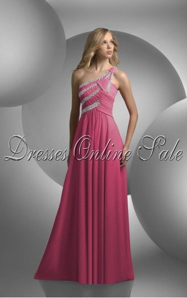 Favodresses.com is a professional women's dresses online shop,where you can find your favourite Sheath Floor-length One Shoulder Fuchsia Dress.