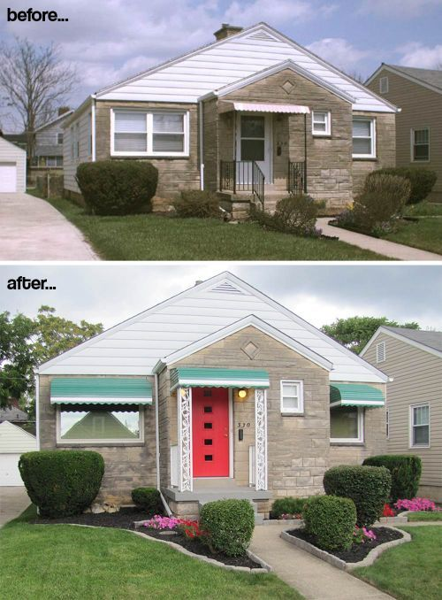 Painted Brick House Exterior Before And After Fixer Upper