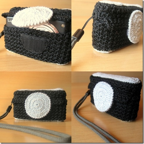 funda camara fotos compacta de ganchillo / crochet