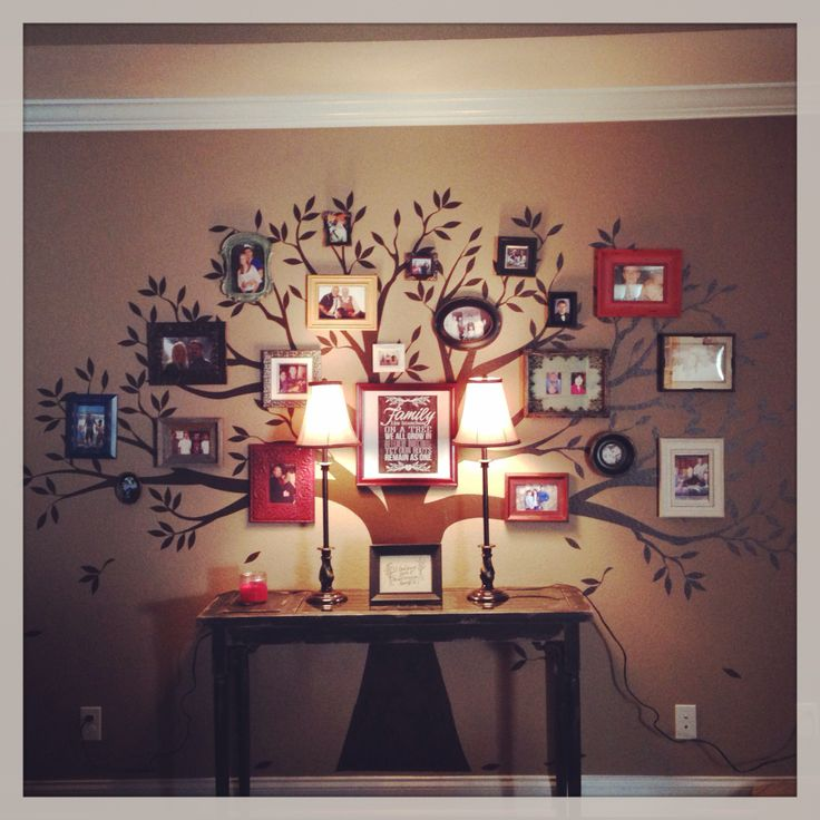 "My Pinterest Inspired ""Family Tree Wall""."
