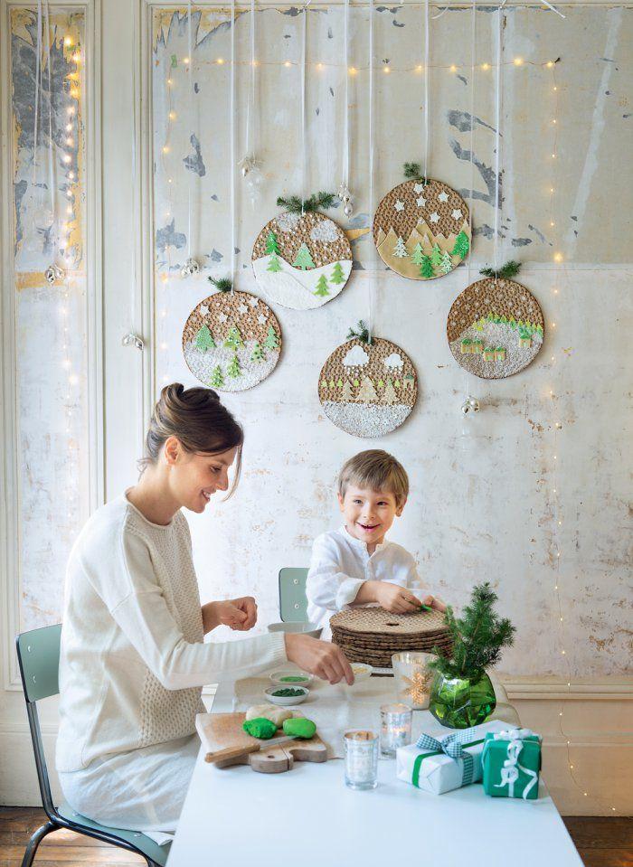 Décoration de Noël : des galettes suédoises comme des boules de Noël - Christmas decoration DIY - Marie Claire Idées