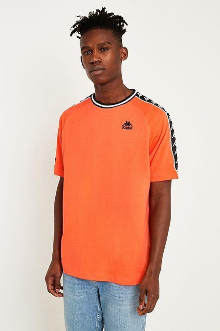 118b0543fba1 Kappa Banda Orange Taped T-Shirt