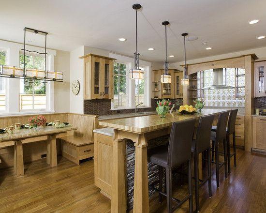 Best Kitchen Island Images On Pinterest Floors Kitchen - Craftsman bungalow kitchen breakfast nooks