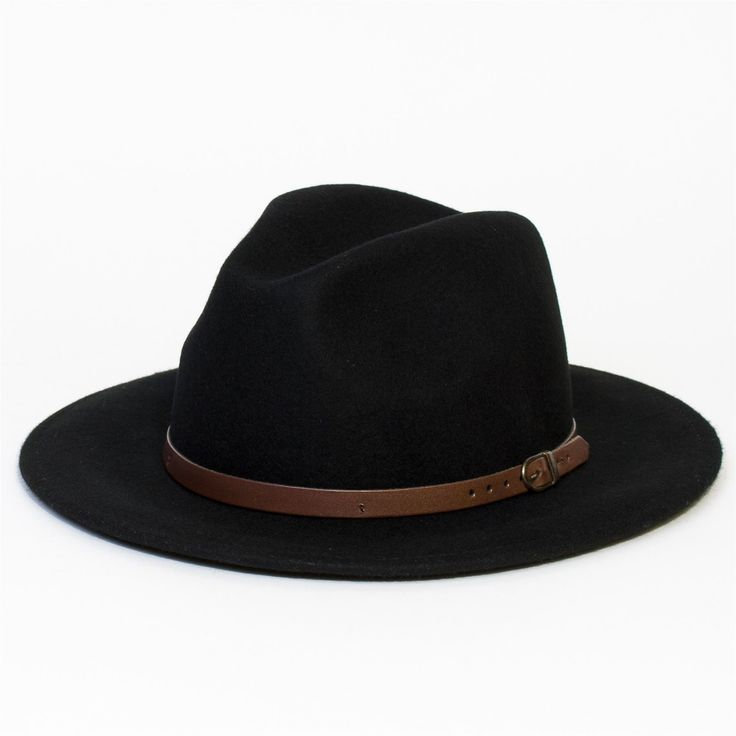 Mens-Women-Wool-Vintage-Felt-Fedora-Wide-Brim-Panama-Hat-Cap-New