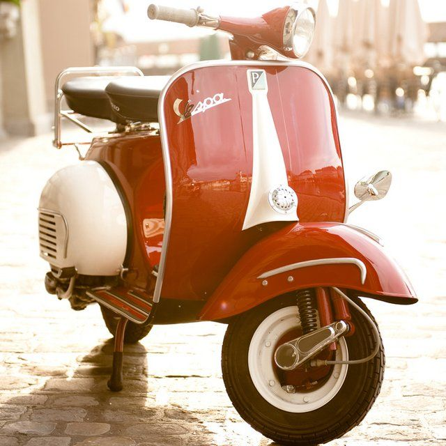 Red Vintage VespaMotorcycles, Baby Blue, Red, Riding, Cars, Wheels, Scooters, Things, Vintage Vespas