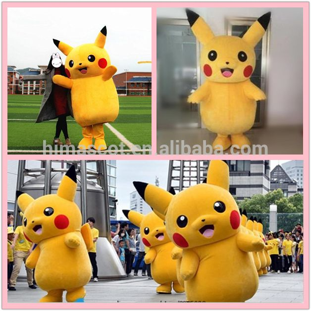 HI CE certificate Japan cartoon costumes plush pikachu mascot costume