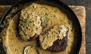 Tom Kitchin's peppered fillet steaks.