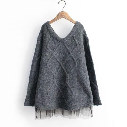 This would be a cute little project. Add some girly flair to a baggy comfortable sweater.