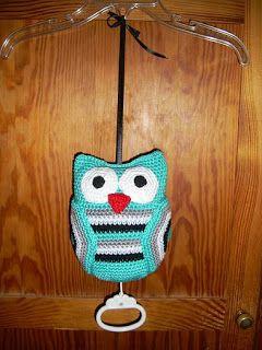 #haken, gratis patroon, Nederlands, amigurumi, uil met muziekdoosje, kraamcadeau, #crochet, free pattern (Dutch), owl with musicbox, babyshower