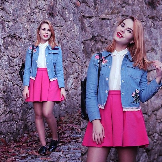 Get this look: http://lb.nu/look/8506547  More looks by Carina Gonçalves: http://lb.nu/carinag  Items in this look:  Stylewe Denim Jacket, H&M Blouse, Primark Skirt, Zara Oxford Shoes   #preppy #romantic #vintage #fashion #fashionblogger #girl #blogger #portugal #denim