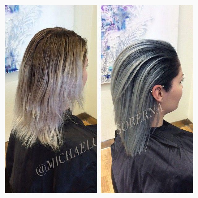 blå toner hår
