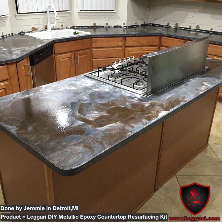 #diy #countertop #resurfacing Made Easy With Our #metallic