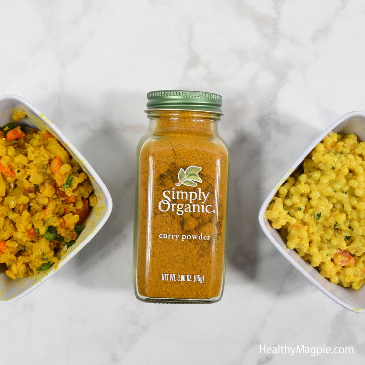 Picture of my gluten-free organic version of Mendocino Farms Curried Couscous on the left, and their original version on the right. Mine is less oily and has better nutrition with more added veggies and no veganaise.