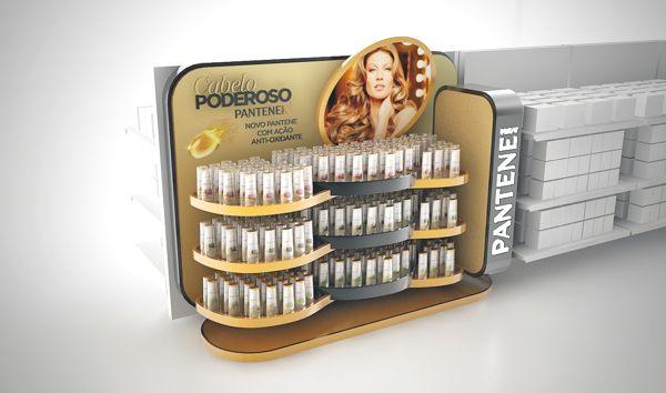 Pantene Point of Sale materials by Mathias D'Andrea Modena, via Behance