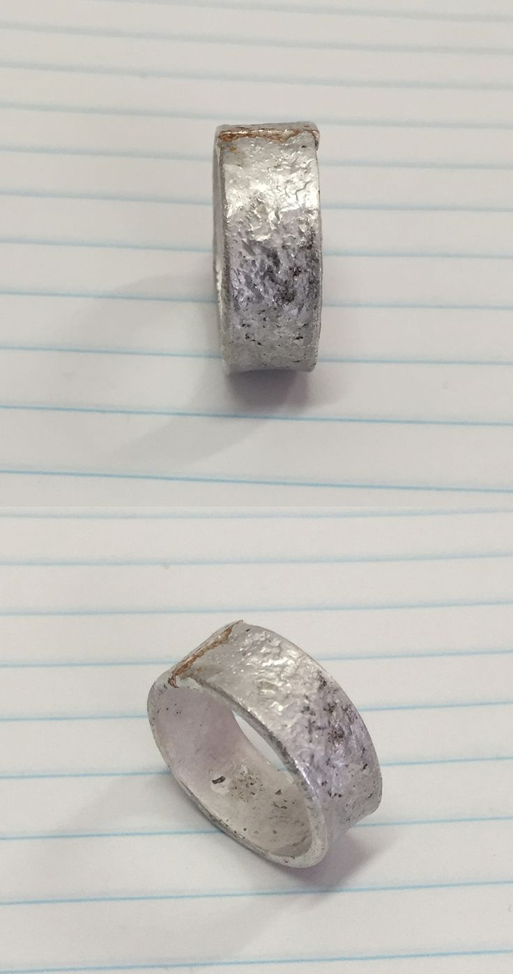 My prototype for a ring based around the method of reticulation - this piece was using Stirling Silver and has not been tidied up
