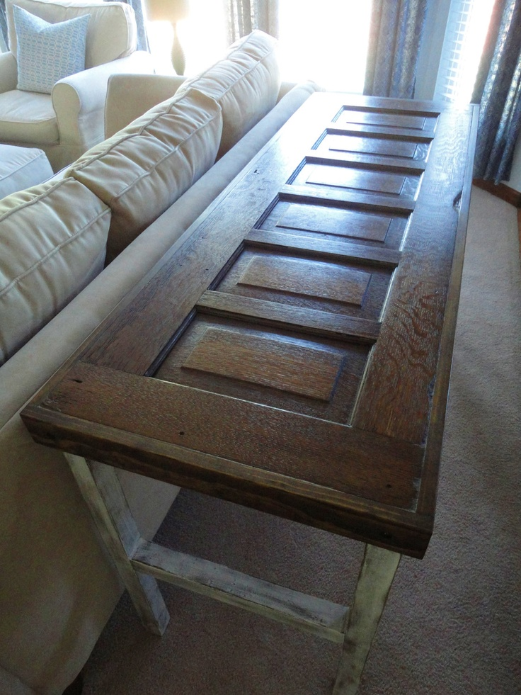 Refurbished Door Sofa/Entryway Table. $325.00, via Etsy.  Jared see you could def do projects like this and sell online right in your wheelhouse