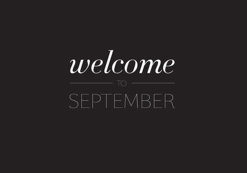 September, welcome, and text image