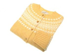 Campbell's of Beauly - Shetland Wool Cardigan Marzipan & White