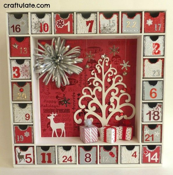 From a purchased DIY cardboard kit that you decorate yourself.  (Other ideas on Pinterest can be found.)  Kaisercraft Advent item is $30 on Amazon.