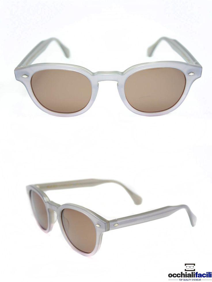 Occhiali da sole G-Sevenstars Marettimo GR in celluloide grigio chiaro con ponte a chiave e forma tonda. http://www.occhialifacili.com/prodotto/occhiali-da-sole-g-sevenstars-marettimo-n/