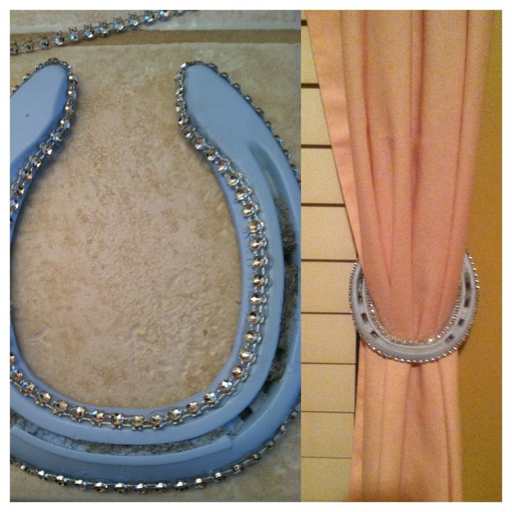 Horse shoes I made into curtain tie backs for my little cowgirl