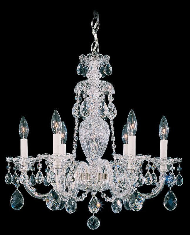 """Schonbek 2994 21"""" Wide 6 Light Candle Style Chandelier from the Sterling Collect Polished Silver Indoor Lighting Chandeliers"""