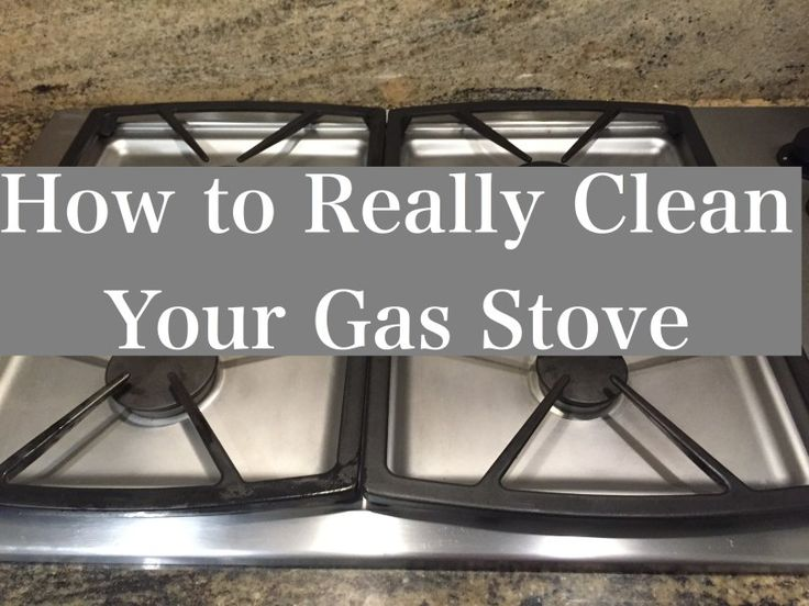 how to clean gas stove top