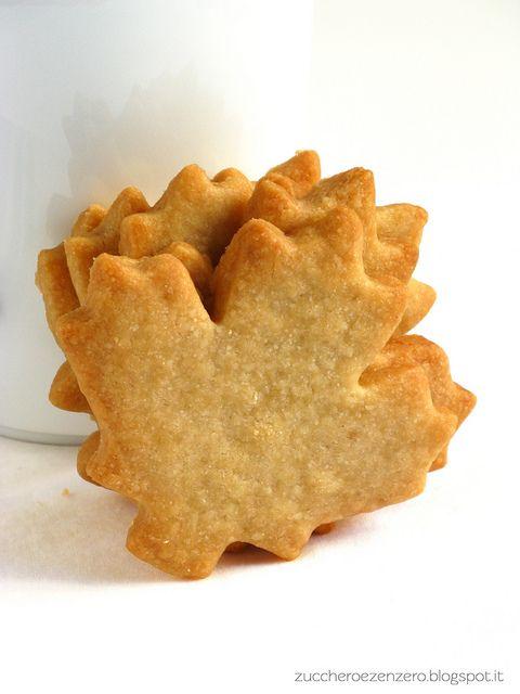 Biscotti autunnali allo sciroppo d'acero