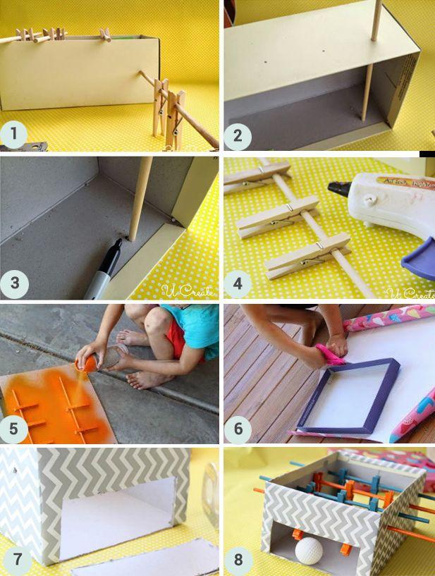 DIY : Fabriquez un mini baby foot en carton   Berceau