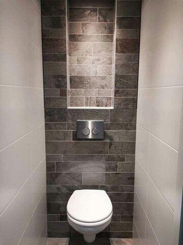 Toilet met verborgen ruimte.