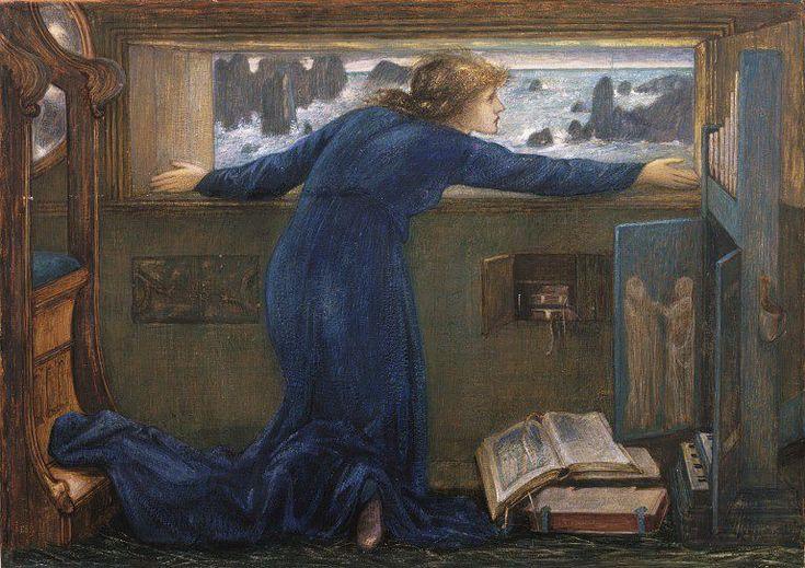 Dorigen of Bretagne longing for the safe return of her husband | Burne-Jones, Edward Coley (Sir) | V&A Search the Collections