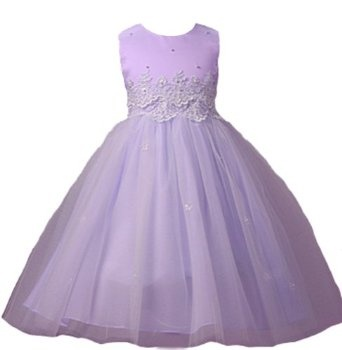 New Cinderella Tulle Flower Girl Pageant Dress (5 Colors Available) 2 to 12 Girls  $44.99  This is a specialty item and is not available for immediate shipment. Please allow 6-10 day lead time before shipment from our store!  Matte Satin Tank Top Style Bodice  Waist Embellished with Appliquéd Lace, Sequins & Pearls  Triple Layer Tulle Illusion Skirt  Pearl/Rhinestone Button Closure & Tie Sash