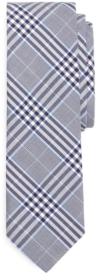 $125, Light Blue Plaid Silk Tie: Brooks Brothers Plaid Tie. Sold by Brooks Brothers. Click for more info: http://lookastic.com/men/shop_items/34558/redirect