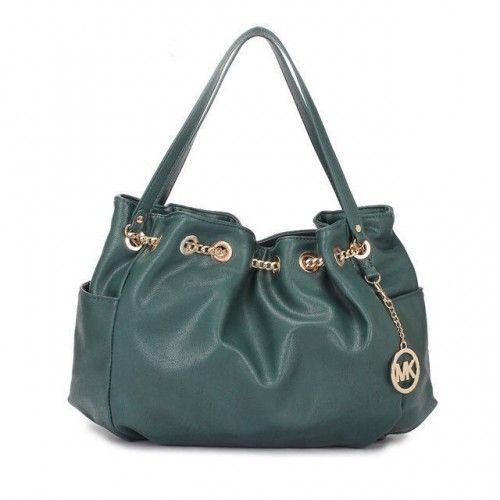 Michael Kors Chain Ring Large Green Shoulder Bags